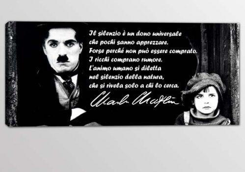 quadro frase Charlie Chaplin