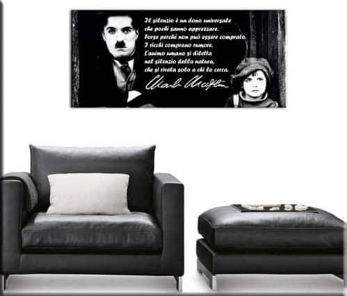 quadro moderno citazione Charlie Chaplin