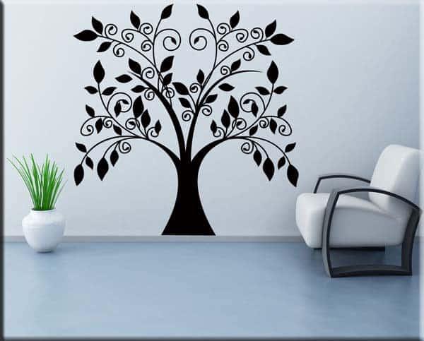 wall sticker albero stilizzato