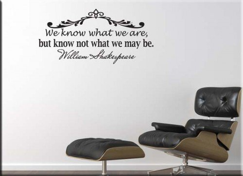 wall sticker citazione William Shakespeare