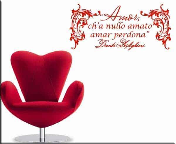 wall sticker frase Dante Alighieri