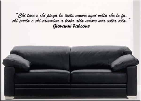 wall sticker frase Falcone