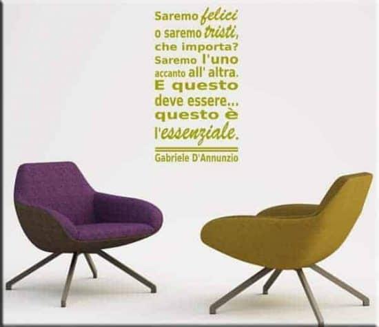 wall sticker frase Gabriele D'Annunzio