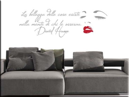 wall sticker frase Hume