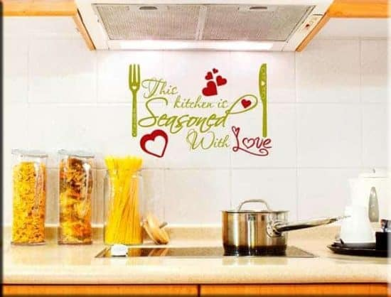 wall sticker frase KITCHEN LOVE