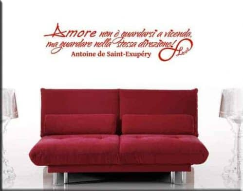 wall sticker frase amore