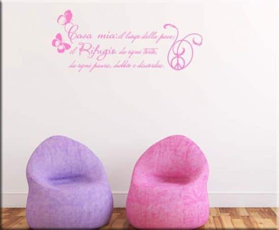 wall sticker frase casa mia