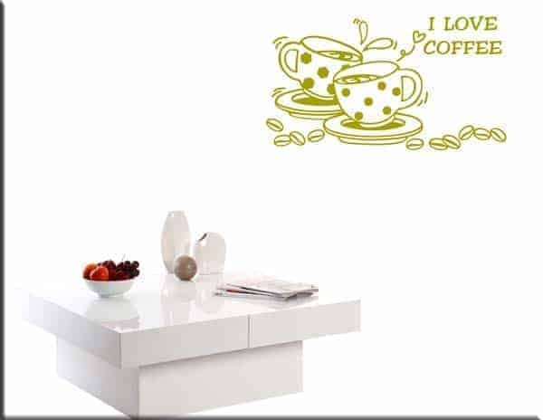 wall sticker i love coffee