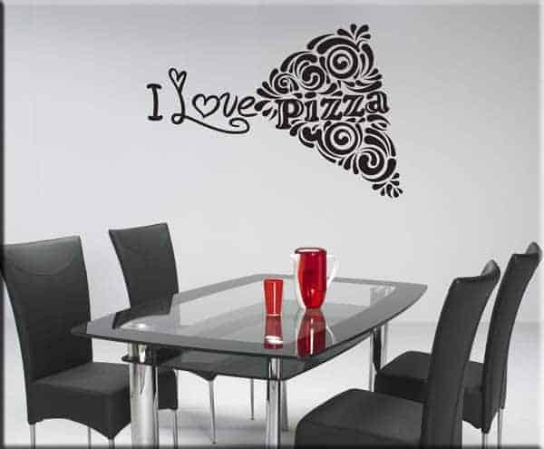 wall sticker love pizza