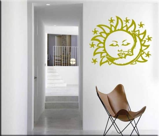 wall sticker sole e luna