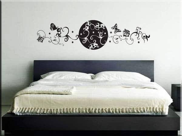 wall sticker testata letto