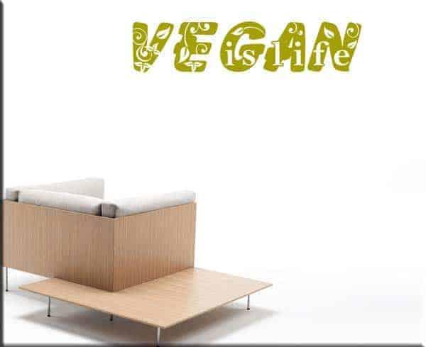 wall sticker vegan is life