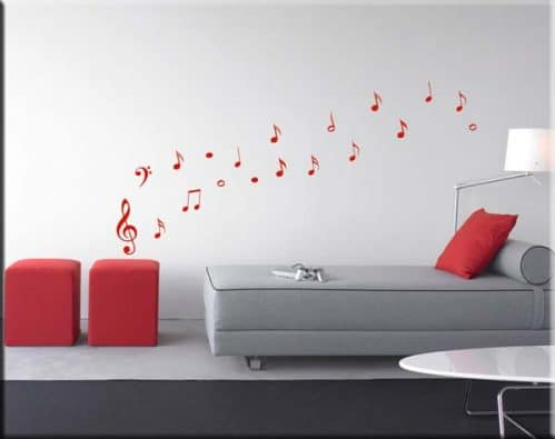 wall stickers 19 note musicali