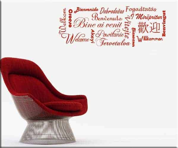 wall stickers benvenuto welcome