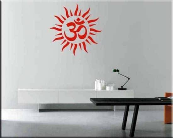 wall stickers chakra om