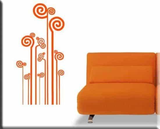 wall stickers decorazione moderna stilizzata