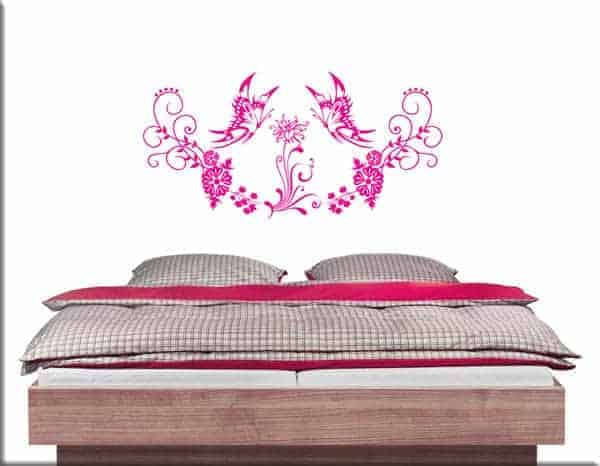 wall stickers farfalle floreali