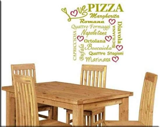 wall stickers love pizza