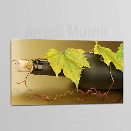 Quadri moderni bottiglia vino 1 tela