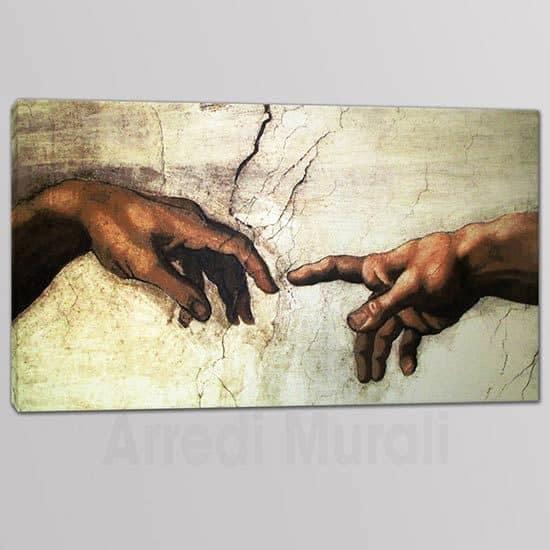 Tris quadri moderni Creazione di Adamo riproduzione su 1 tela