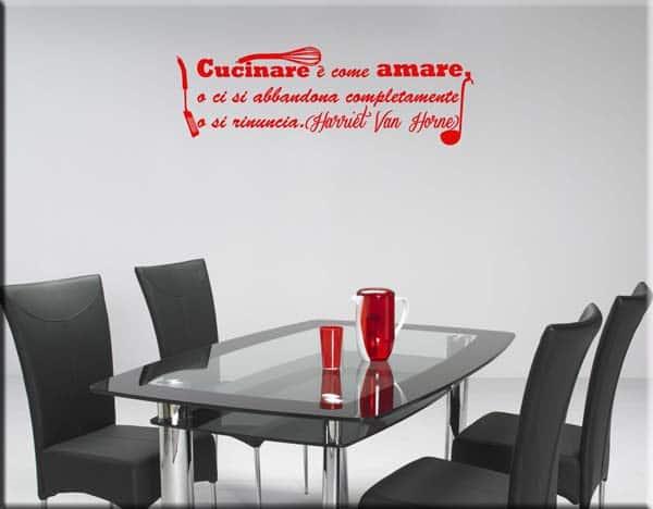 Adesivo murale frase cucina for Adesivi per mattonelle da cucina