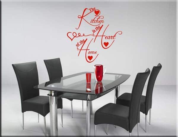 Adesivi murali kitchen cucina - Specchi adesivi da parete ...