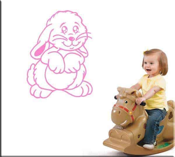 adesivi murali bambini coniglio coniglietto