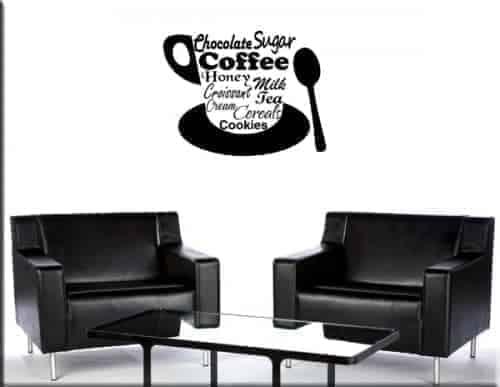adesivi murali bar coffee