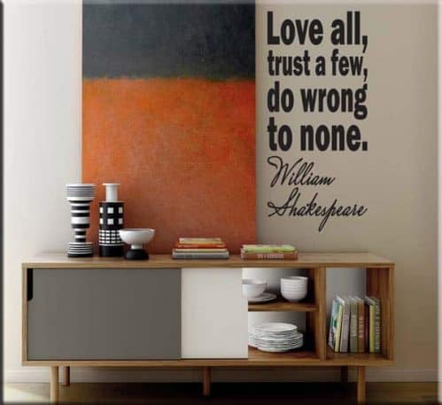 adesivi murali frasi william shakespeare