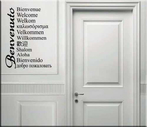 adesivi murali welcome benvenuto