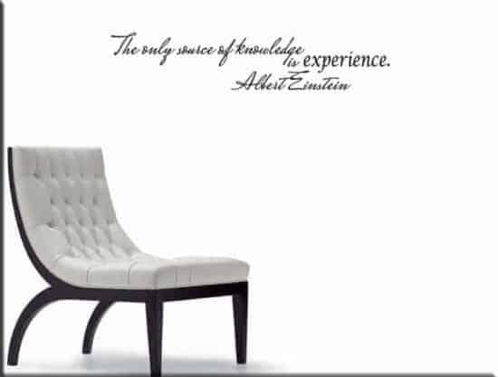 adesivo da parete citazione Albert Einstein