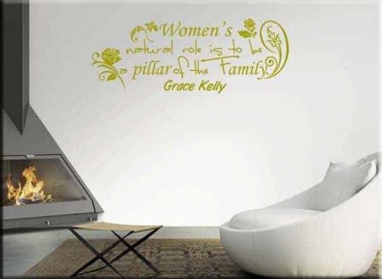 adesivo da parete citazione Grace Kelly