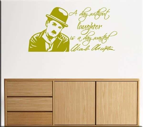 adesivo da parete frase Chaplin