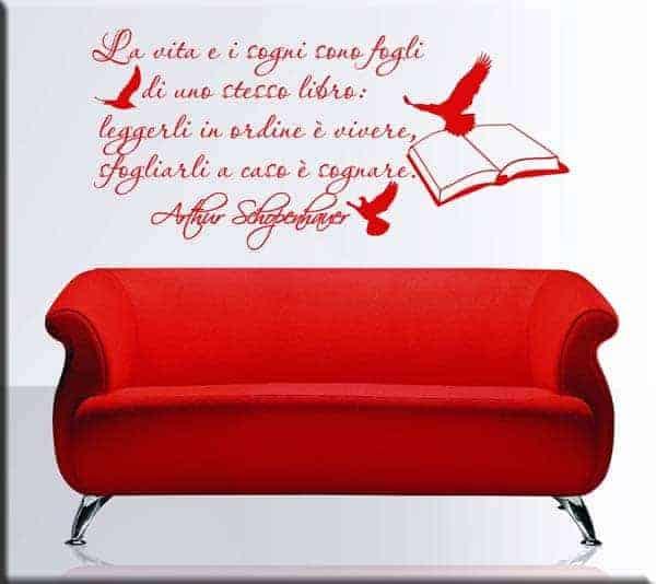 adesivo da parete frase Schopenhauer