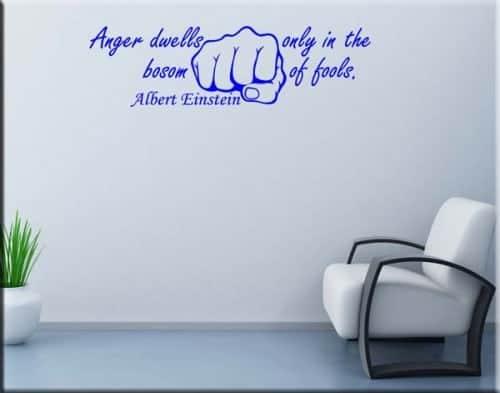 adesivo murale Albert Einstein citazione