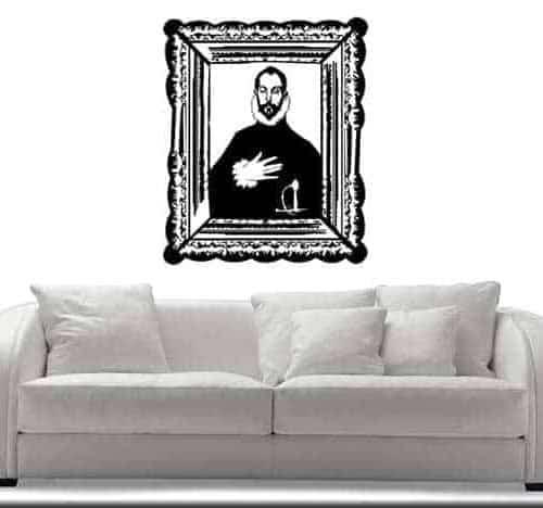 adesivo murale El Greco cavaliere