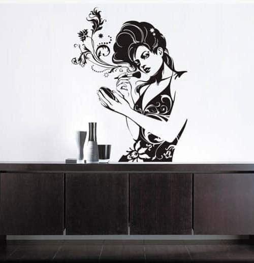 adesivo murale bellezza donna