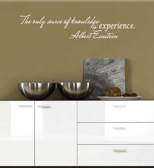 adesivo murale citazione Albert Einstein