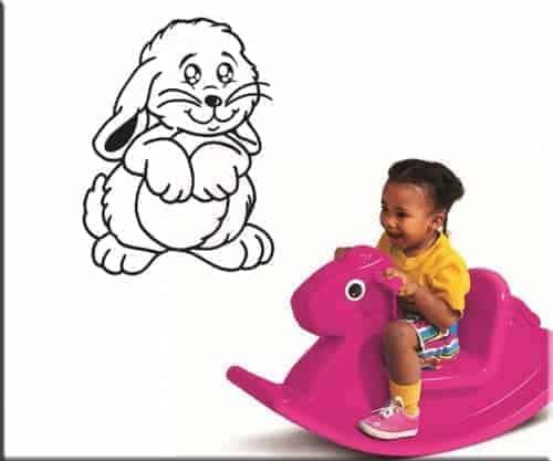 adesivo murale coniglietto bambini