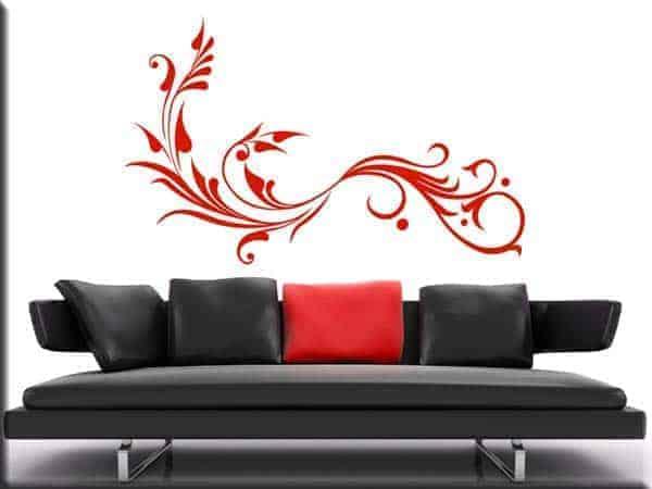 adesivo murale floreale