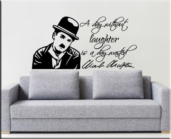 adesivo murale frase Chaplin