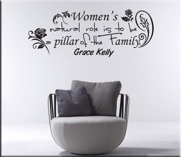 adesivo murale frase Grace Kelly