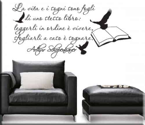 adesivo murale frase Schopenhauer
