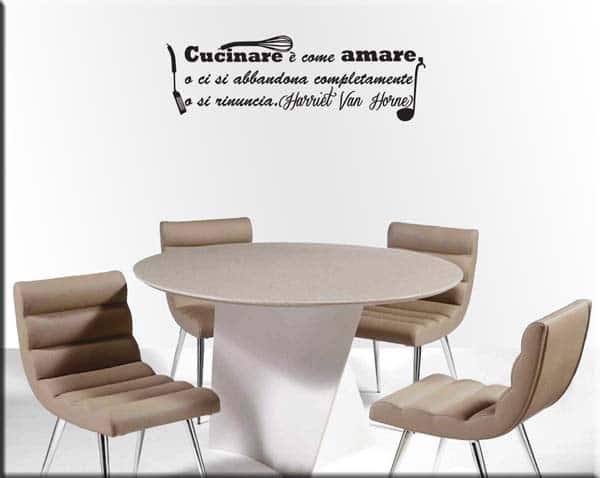 adesivo murale frase cucina
