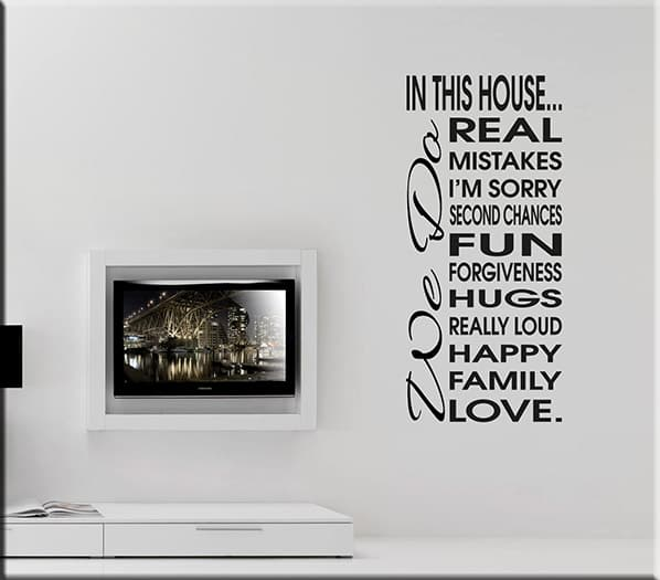adesivo murale frase house
