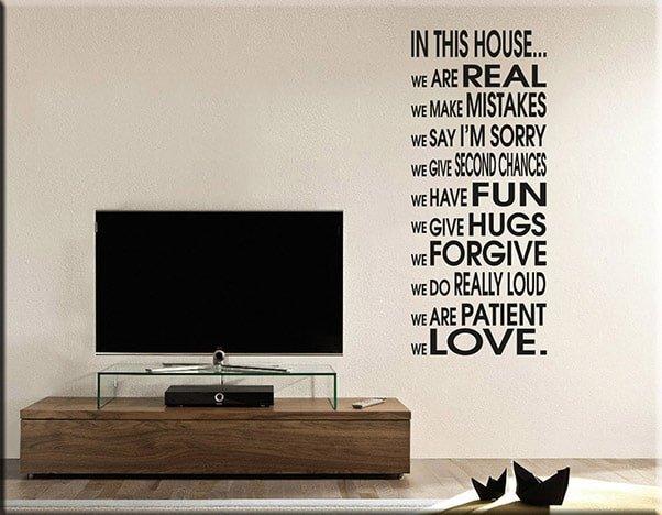 adesivo murale house frase