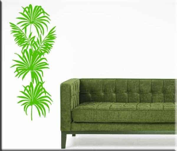 adesivo murale pianta
