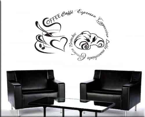 Decorazione adesiva coffee caff bar for Adesivi x cucina