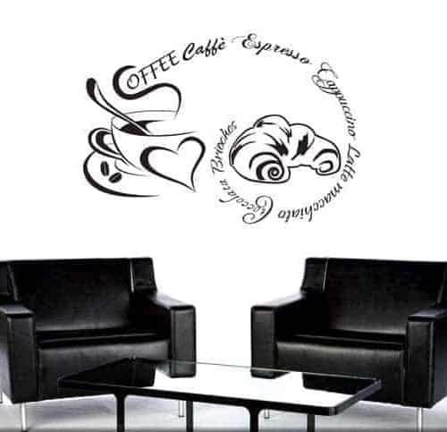 decorazione adesiva coffee caffè bar