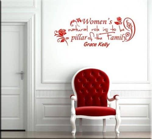 decorazione adesiva da muro frase Grace Kelly